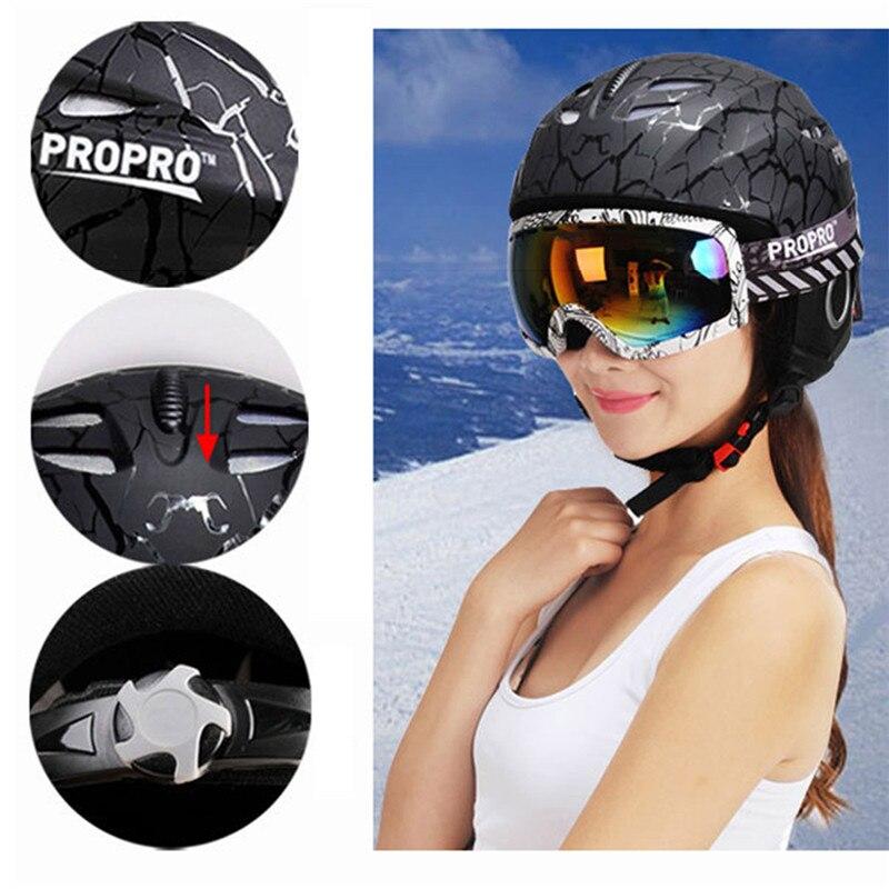 Шлем лыжный цельнолитой для катания на сноуборде детей и взрослых шлем коньках