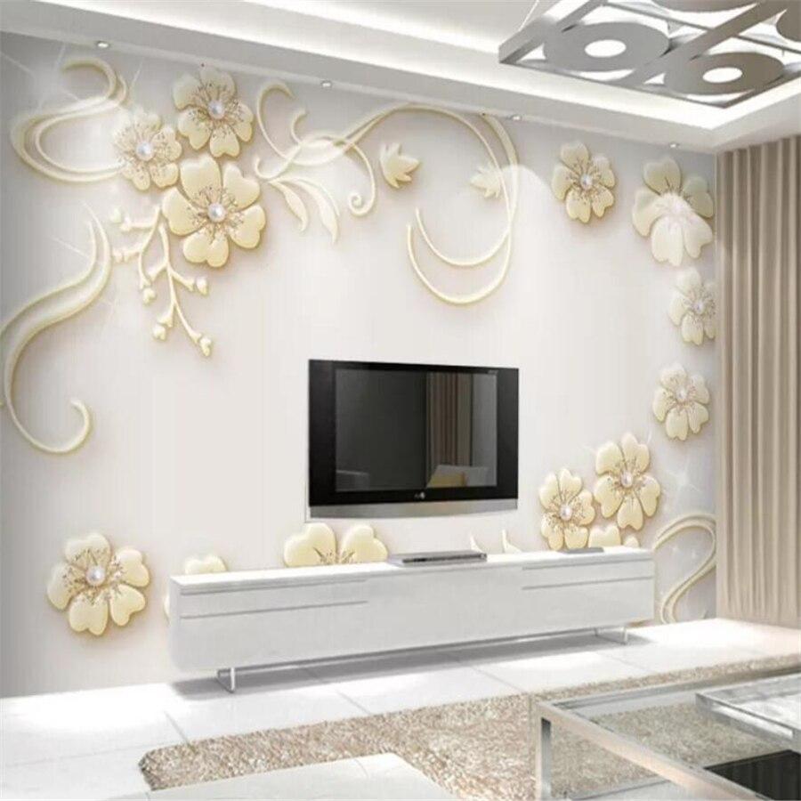 Custom wallpaper 3d photo murals European dream flower embossed stereo mural TV background wall papers home decor
