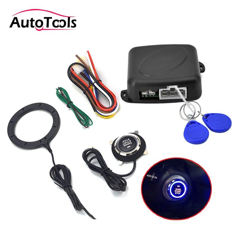 Autostart samochodu przycisk Start Stop silnika z zamek RFID wyłącznik zapłonu System dostępu bezkluczykowy rozrusznik silnika system alarmowy