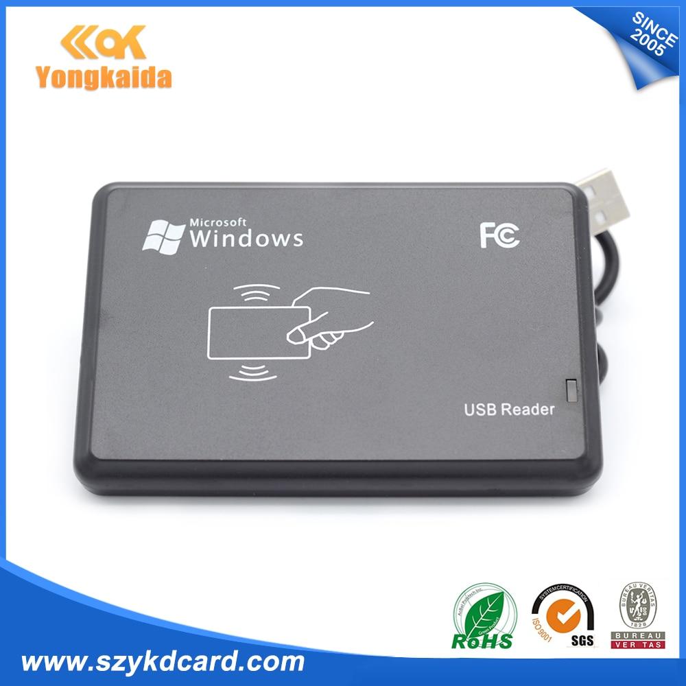 Yongkaida Beste Qualität 10 teile/los Neue USB RFID ID Kontaktlose Proximity EM4001 EM4100 Windows Smart Kartenleser