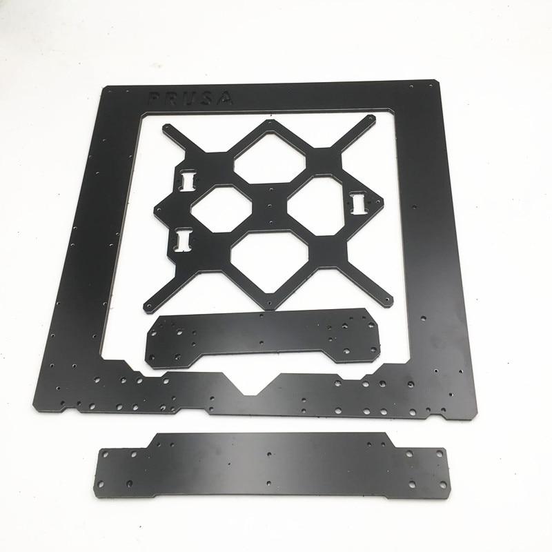 Funssor Reprap Prusa i3 MK3 إطار DIY MK3 i3 الألومنيوم فيوزات واحدة ورقة إطار 6 مللي متر الميلامين Prusa i3 3D طابعة التبعي