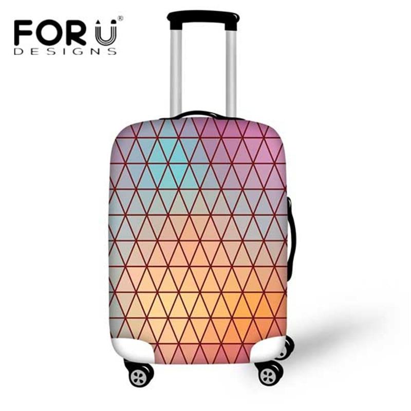 FORUDESIGNS Travel on The Road Lattice cubierta protectora de equipaje para 18-30 pulgadas funda gruesa elástica con cremallera protectora maleta