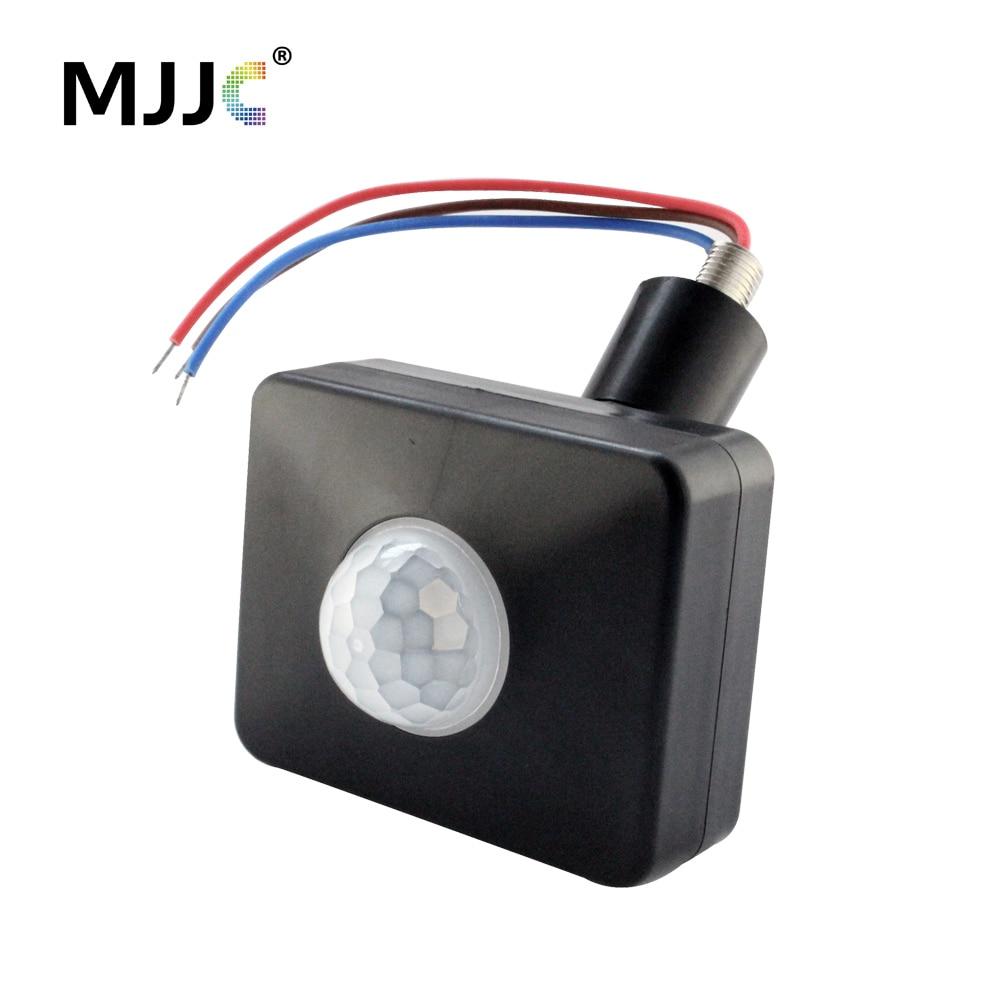 Sensor de movimiento 220V 110V DC 12V PIR interruptor de movimiento automático infrarrojo lámpara de cuerpo luz temporizador interruptor al aire libre