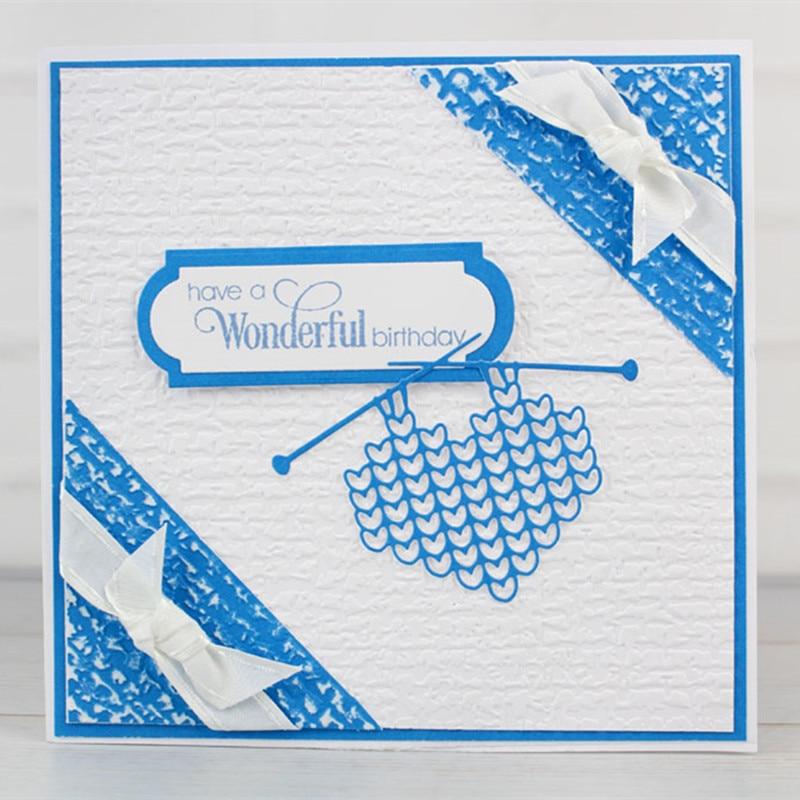 Knitting Metal Die Cuts Cutting Dies For DIY Scrapbooking Embossing Paper Cards Making Decorative Crafts Supplies New 2018 Die