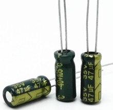 100 pcs/lot 35V 47UF 5*11MM haute fréquence basse impédance condensateur électrolytique en aluminium 47uf 35v 20%