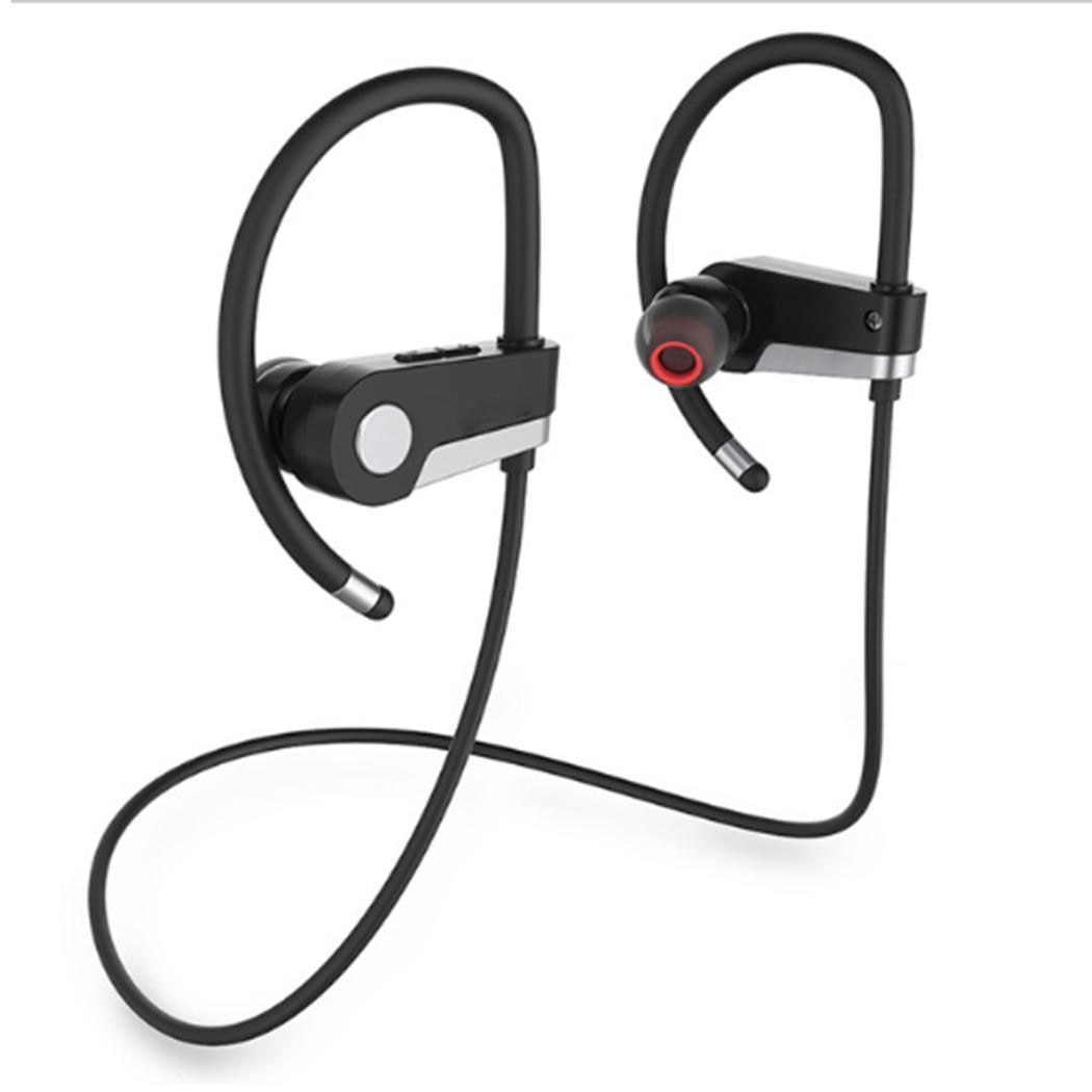 Auriculares de oído inalámbrico Bluetooth, auriculares con gancho, conexión estéreo multipunto, 2,4 GHz, informales, para viajes, exteriores, etc.