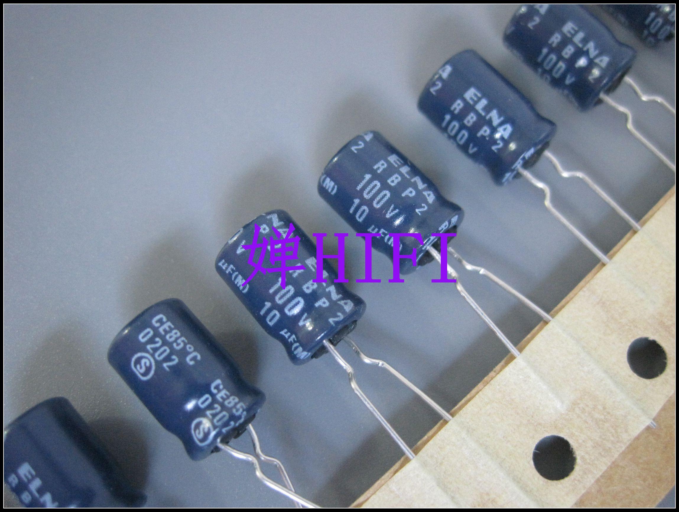 2020 hot sale 20PCS/50PCS ELNA original 100V10UF RBP2 non-polar electrolytic capacitor electrolysis free shipping 2020 hot sale holland bc 20pcs 50pcs 82pf 100v 2