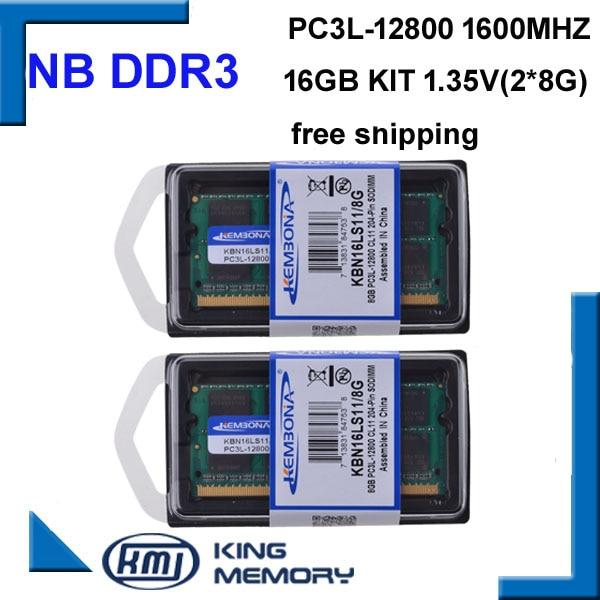KEMBONA-kit de 2 uds. De memoria ram DDR3L DDR3, 16GB, ram de...