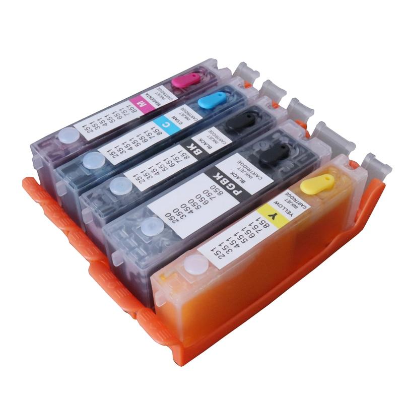 5colors 650/651 A grade 1set Edible ink cartridge