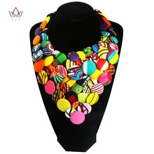 Kleurrijke Afrikaanse Knop Ketting Afrikaanse Accessoires voor Vrouwen Bohemen Stijl Vrouwen Knop Ketting WYA160
