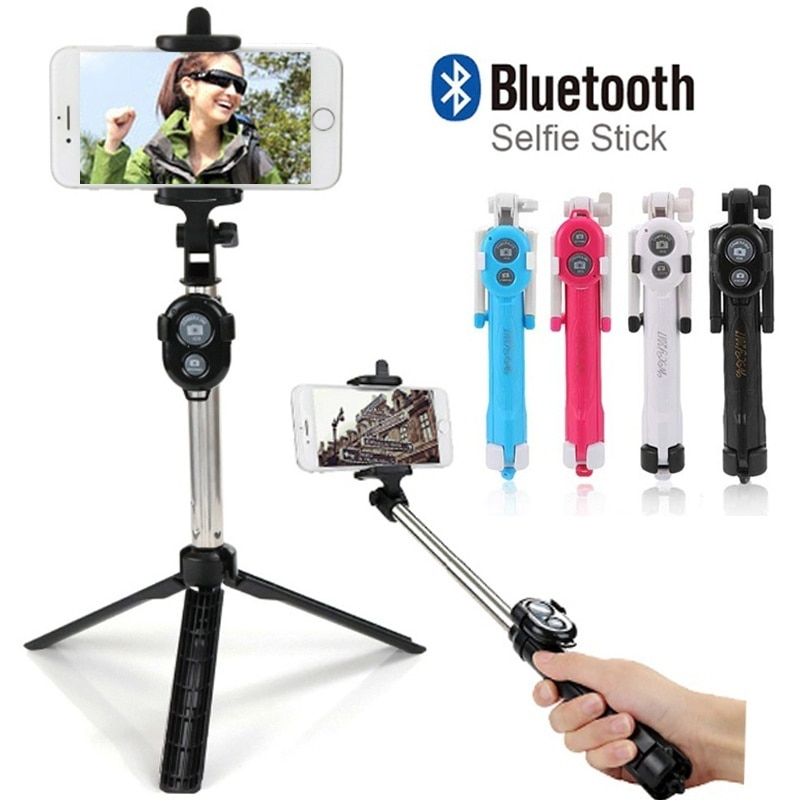 Bluetooth Selfie Stick Self-Timer Pole Self-portrait Monopod For SmartPhones Gopro Hero Digital Camera 19cm-75cm Selfie Stick