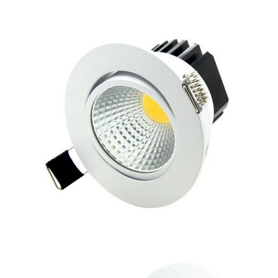 LED مصباح راحة LED عكس الضوء النازل COB 5W 7W 10W 15W LED بقعة ضوء LED الديكور السقف مصباح AC 110V 220V