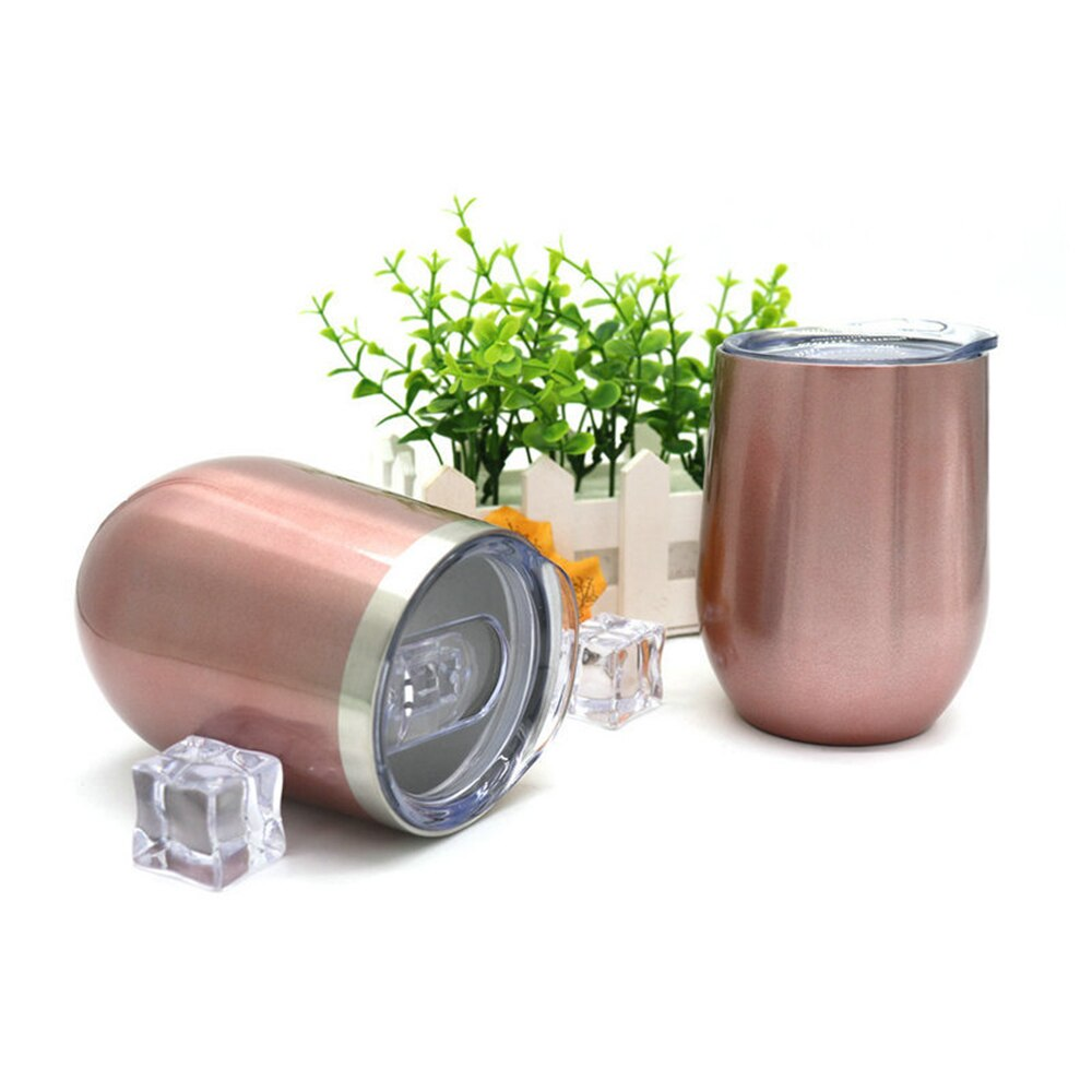 Vaso de vino 2020 útil aislamiento para taza de cerveza regalo de Navidad huevo cóctel copa de vino W tapa   Vaso aislado de acero inoxidable 12oz
