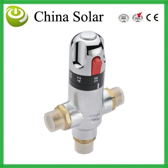Válvula de mezcla de temperatura, piezas de válvula de calentador de agua solar, mezclador termostático, grifo de ducha, DN15 o DN20 latón válvula termostática