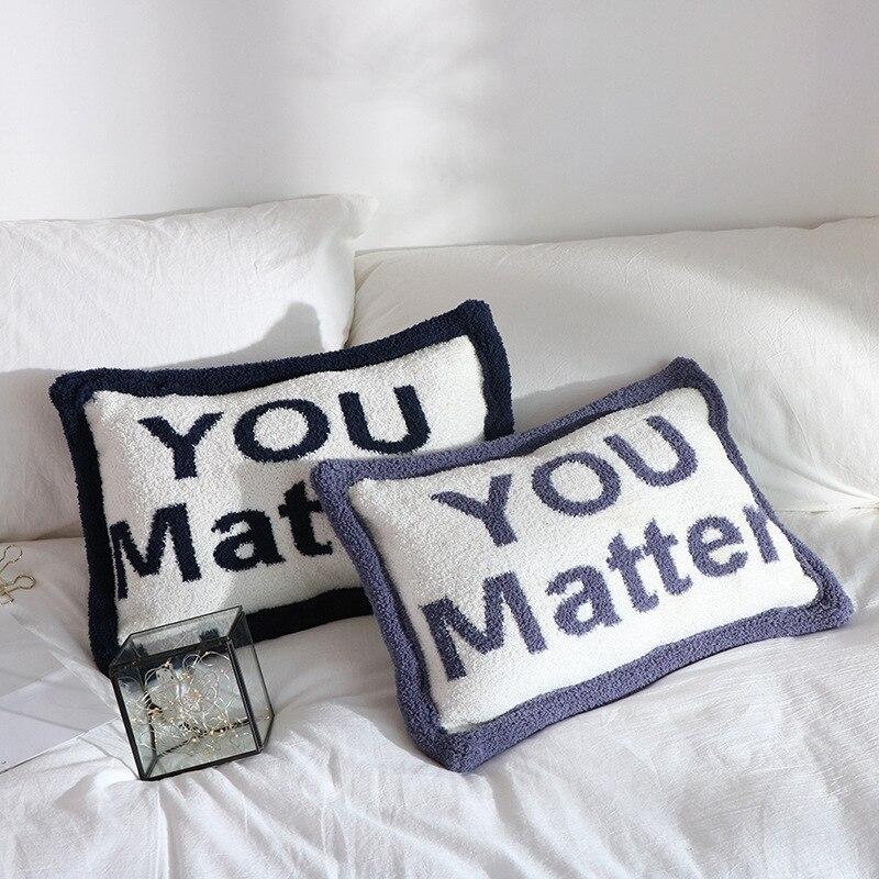 Cojines Decorativos Para sofá cojín calentador de manos almohada suave decoración del hogar Lumbar almohada con cojín trasero de oficina interior
