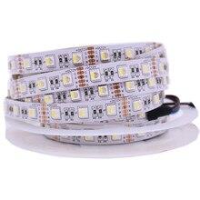 4 en 1 RGBW LED bande 5050 DC12V lumière LED Flexible RGB + blanc/rvb + blanc chaud 4 couleurs en 1 puce LED 60 LED s/m 5 m/lot.