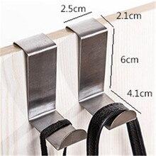 2 uds. Colgador de cocina de acero inoxidable gancho para puerta de pared colgador de armario colgador de abrigo colgador de ropa ganchos para el hogar