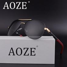 AOZE Brand Designer Retro Men Polarized  Sunglasses Classic Drive Shades Glasses Top Quality Eyewear Mirror,UV400 8725