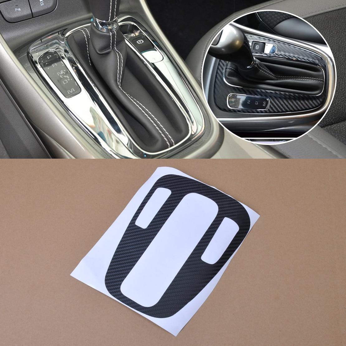 Beler, nuevo, 1 pieza, diseño de coche, Panel de fibra de carbono, cambio de marchas, cubierta protectora, pegatina para Chevrolet Holden Malibu 2012 2013 2014 +