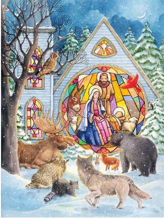 Diamante Bordado, igreja, neve, lobo, 5D, diy Pintura Diamante, Ponto Cruz, diamante Mosaico, teste padrão do diamante, decoração para casa adesivos