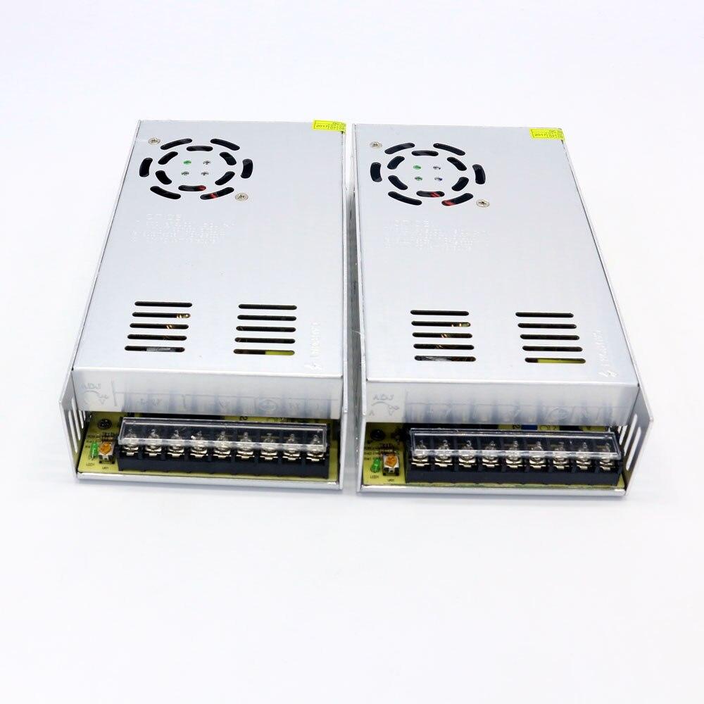 Ventas de embalaje 2 unids/lote precio bajo 24V 15A 360W Led fuente de alimentación Dc adaptador