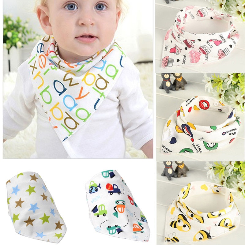 Lindo bebé niños baberos bandana de algodón alimentación Saliva toalla geométrico Dribble triángulo 2017 Nuevo Bebes caliente bebé niño niñas Burp paños
