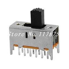 10 Uds. ON/ON 2 posiciones 4P2T 4PDT Interruptores deslizantes verticales 12 Pin PCB SS42H11-G5