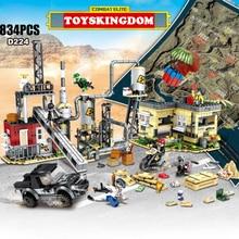 군사 게임 PUBG moc 원자력 발전소 수력 발전소 batisbricks 빌딩 블록 육군 인물 무기 총 벽돌 장난감