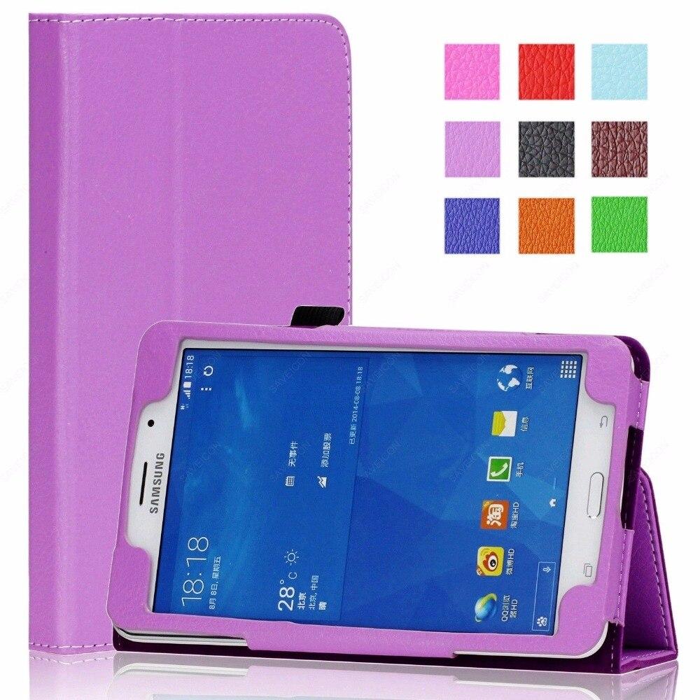"Funda Para Samsung Tab 3 7,0 P3200 SM-T211 T210 Flip PU Funda de cuero Para Samsung Tab 3 7 ""Tablet Funda Para + Pen"