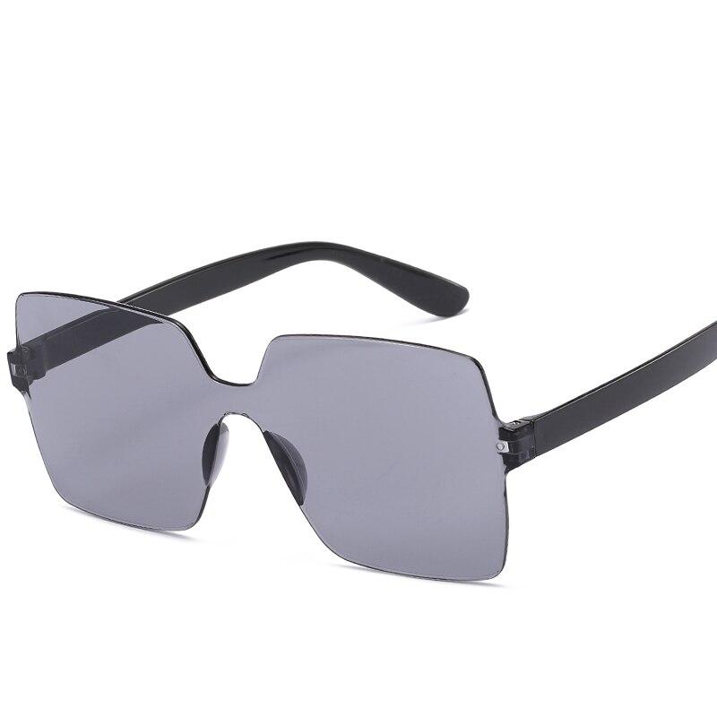Rimless Sunglasses For Ladies Transparent Glasses Men Women Eyewear Vintage Red Yellow Brown Round H