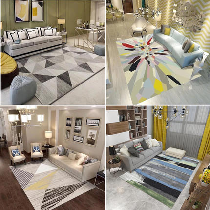 AIBOULLY 24 pattern carpet living room rug modern minimalist home sofa coffee table mat Nordic rectangular floor mats washable
