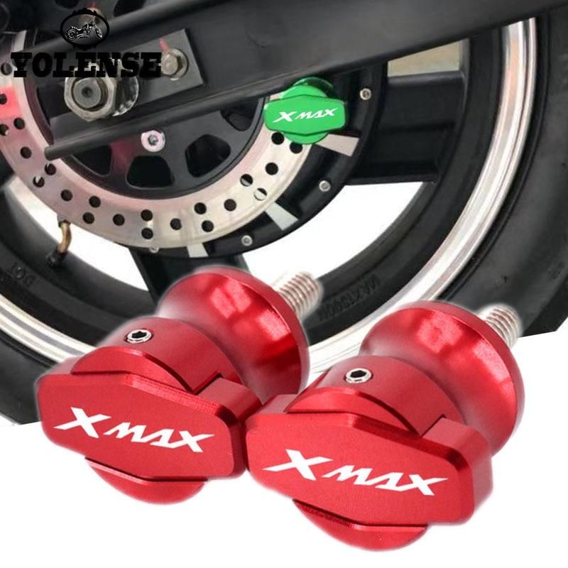 Soportes de Marco CNC para motocicleta, deslizadores de tornillos de 6MM, topes deslizantes para YAMAHA XMAX X-MAX 125 250 300 400 XMAX300 2017 2018
