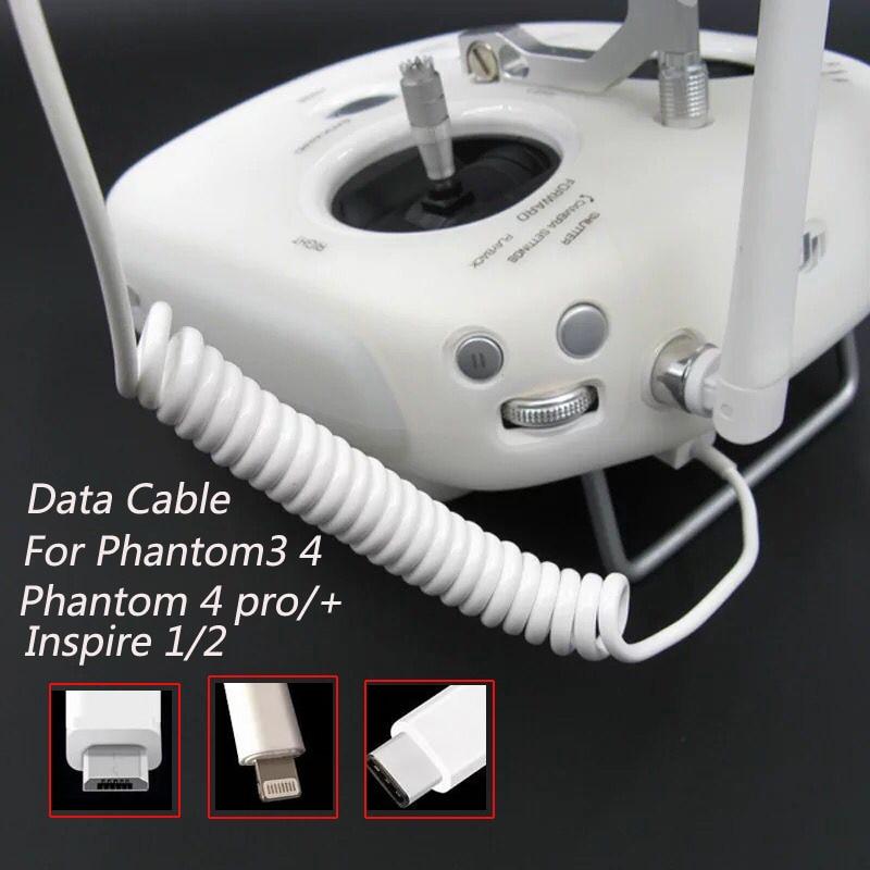 Портативный кабель для передачи данных на Android IOS Type C, кабель для DJI Phantom 3/4 PRO + Inspire 12, подходит для телефонов IPhone, IPad, Android