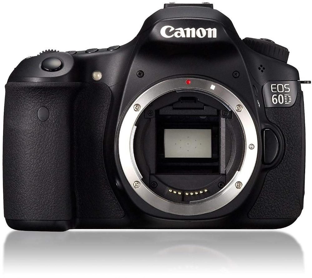 Используется цифровая зеркальная камера Canon EOS 60D 18 МП CMOS с объективом 55SII Kit карта