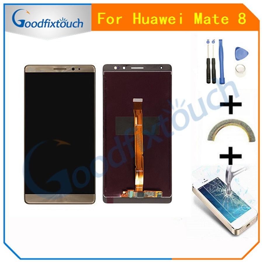 100% Tested For Huawei Mate 8 Mate8 MT8 LCD Display + Touch Screen Digitizer Assembly Replacement 4 Colors 6