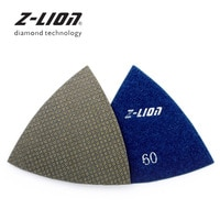 Z-LEAP 2pcs Triangular Sanding Pads Oscillating Multi Tool Polishing Pads For Renovator Power Tool Sandpaper Fein Accessories