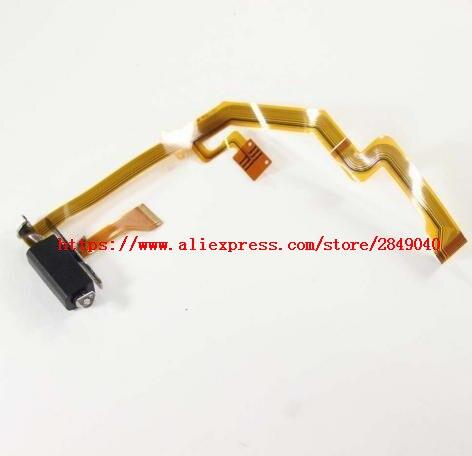 Nuevo FZ300 FZ330 muestra la unidad de bisagra del eje de rotación cable flexible de LCD SYK1144 para Panasonic DMC-FZ300 DMC-FZ330 pieza de reparación de cámara
