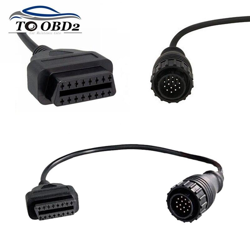 Conector de Cable OBDII para Mercedes Benz Sprinter de 14 pines para coches antiguos interfaz compatible con Benz 14Pin macho a 16Pin OBD2 hembra