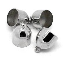 "120Pcs Silver Tone Wrap Scarf Beads Cap Drops Component 27x21mm(1-1/8""x7/8"")"
