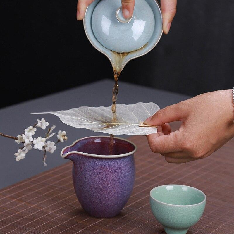 Novo filtro de chá folha folhas de filtro de chá forma bodhi escapamento infusers de chá acesso oco para fora as folhas filtro personalidade