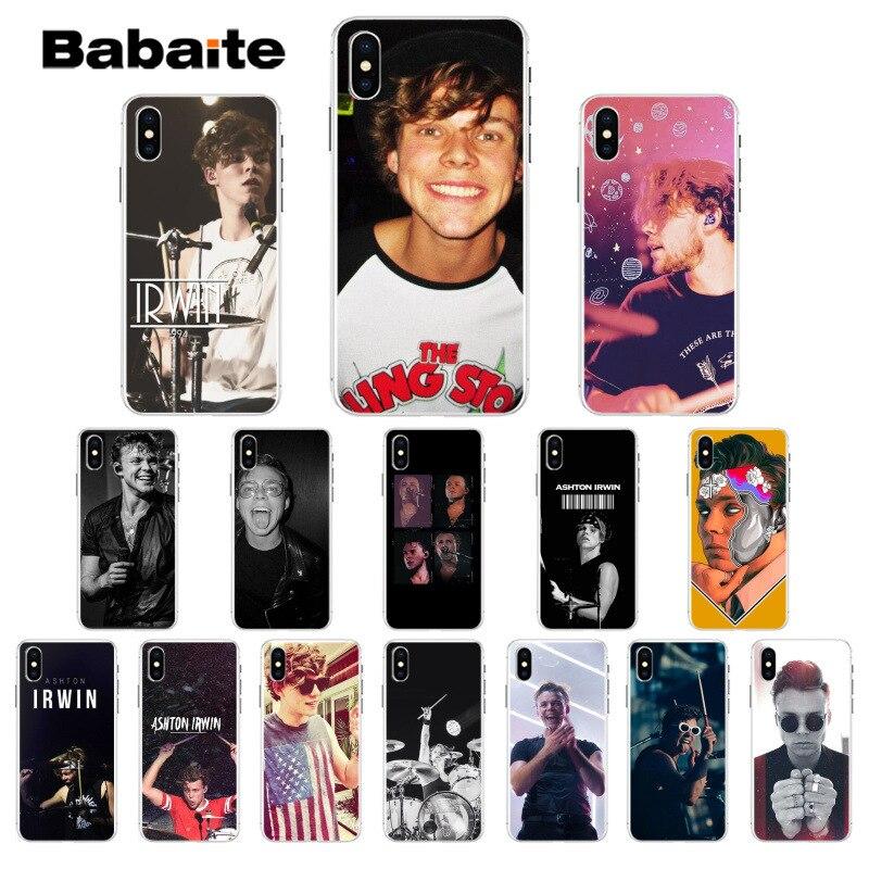 Babaite 5SOS Ashton Irwin, cubierta suave de TPU Teléfono para Apple iPhone 7 7 6 6S Plus X XS X MAX 5 5S SE XR cubierta móvil