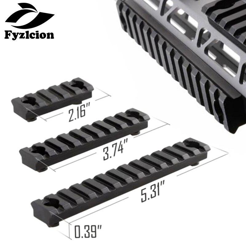 Caza táctico 3pcs-M-Lock-M-LOK-Aluminum-Picatinny-Rail-Section-5-Slots-9-slots-13-Slots
