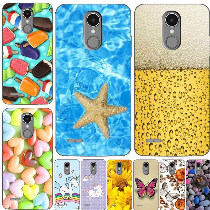 Funda de teléfono móvil de silicona suave dibujos Para LG K8 2018 / K9 2018, fundas traseras coloridas, funda Para fundas de flores