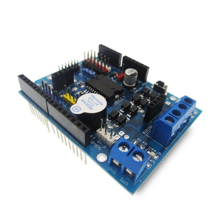 10 unids/lote L298P controlador de velocidad PWM doble alta potencia h-bridge Driver, interfaz Bluetooth, L298P placa con protección para motor