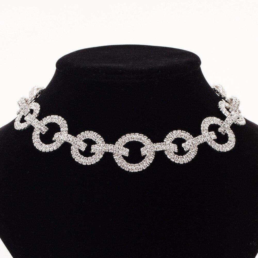 Ожерелье женское, длинное, со стразами, N302