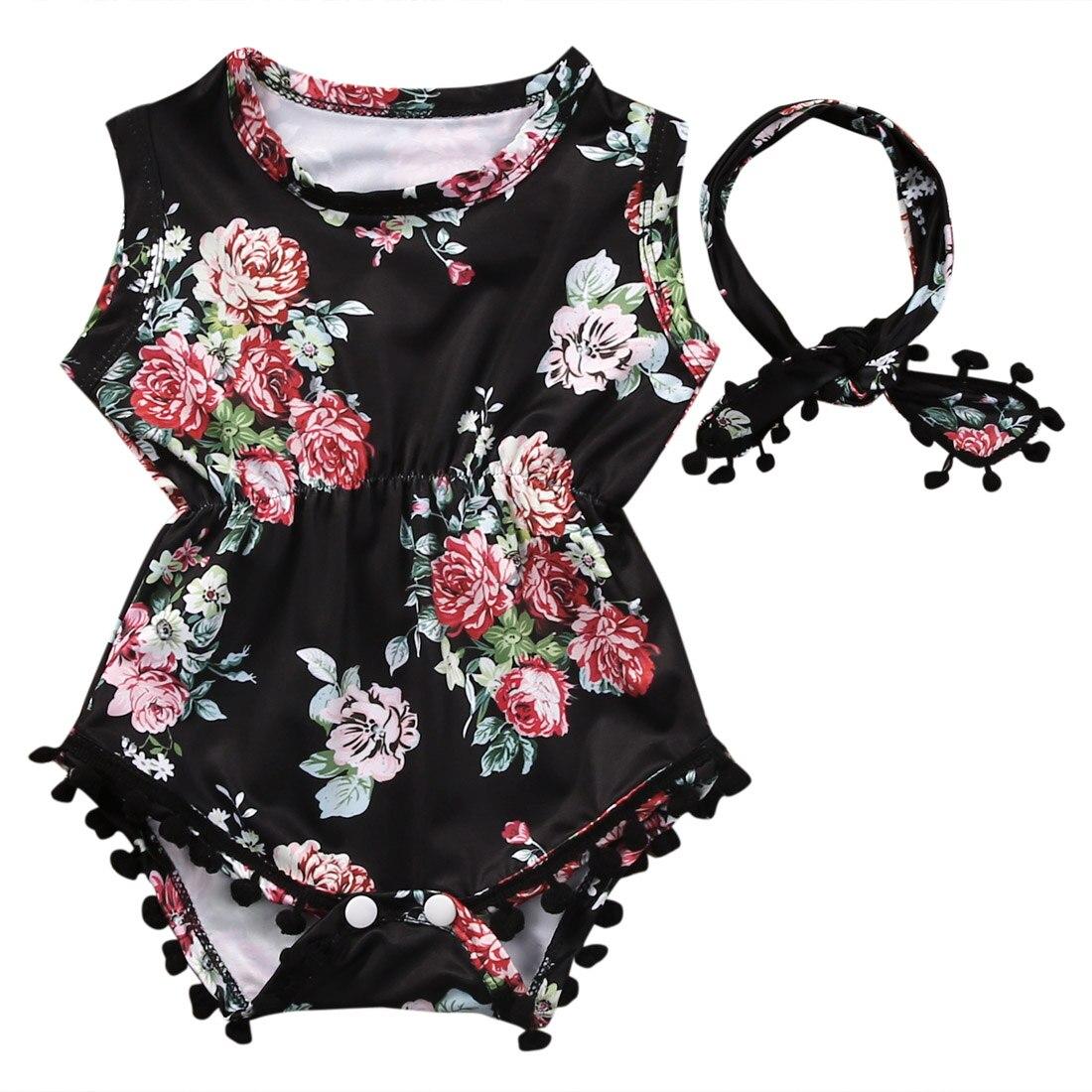 Recién Nacido VIntage púrpura flores Floral bebé Niñas Ropa Romper traje de Sol una pieza con diadema conjuntos al por mayor