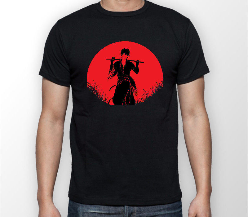 Gintama Gintoki Sakata Luna Roja camiseta Unisex de Anime camiseta ALL SIZES2018 marca de moda para hombres Camiseta de manga corta Camiseta