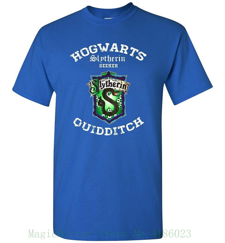 Hogwart Slytherin Quidditch T-shirt 100% Cotton Short Sleeve O-neck Tops Tee Shirts