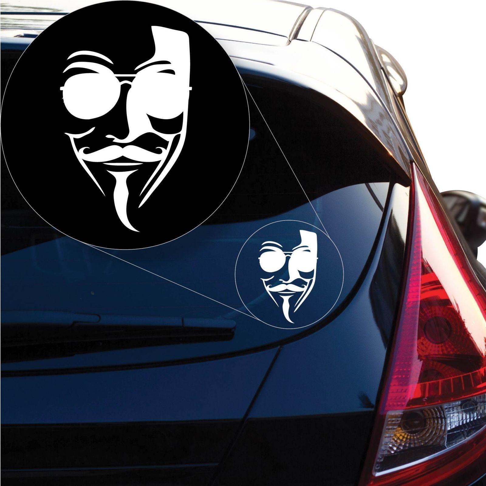 Etiqueta de la máscara de la firma anónima para la ventana del coche, ordenador portátil
