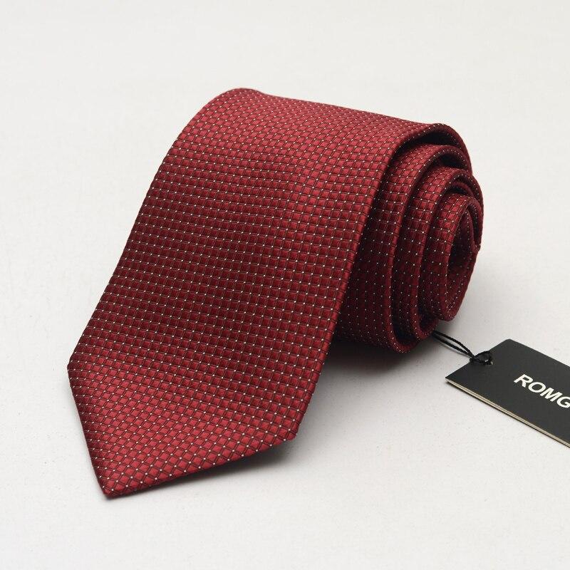 NEW Formal Ties for Men 9cm Designer Fashion Brand Necktie Mens Wied Tie Plus Size Tie Wedding Suit Black Plaid Gravata Gift BOX